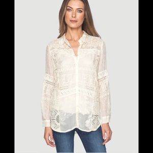 4 Love And Liberty Aeldra Button Down Dusty  Mauve
